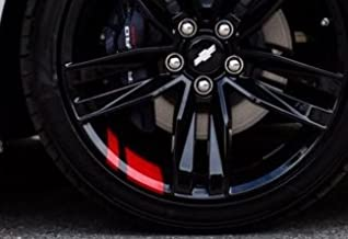 "UNDERGROUND DESIGNS Redline Wheel Decals Hash Stripe Stickers Fits 18"" 20"" Wheels for Camaro Silverado Corvette Colorado T..."
