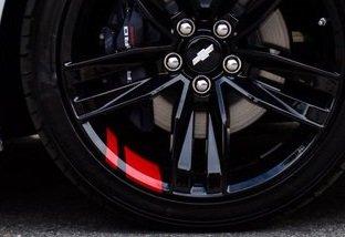 UNDERGROUND DESIGNS Redline Wheel Decals Hash Stripe Stickers Fits 18
