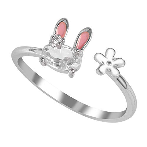 Hollow Love Pet Dog Paw Footprints Cat Ring Fox Angel Wings Bee Rabbit Wedding Ring Female Animal Jewelry Gift