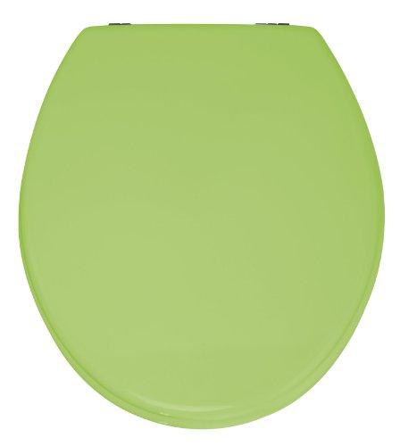 WENKO Seduta WC Prima verde brillante - per WC con cassetta a zaino, MDF, 37 x 41 cm, Verde Anice