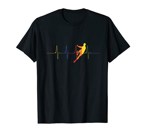 EKG Regenbogen Fußballspieler LGBT Sport Fußball T-Shirt