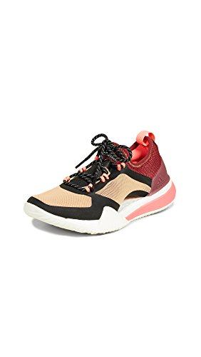adidas by Stella McCartney Women's Pureboost X TR 3.0 Sneakers, Cardboard/Maroon/Black, 8.5 Medium US