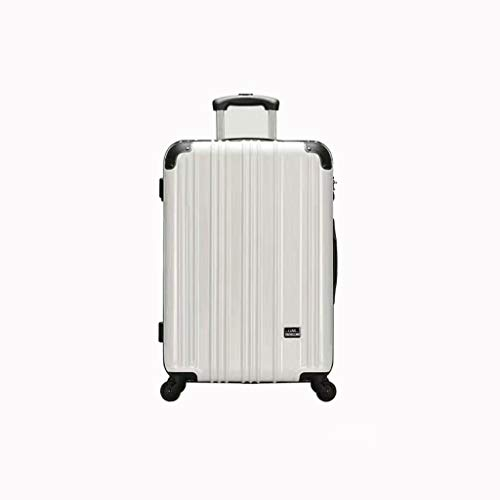 Lyl Viaje caso Mujer 20 pulgadas Caster equipaje Simple Moda Marea Maleta Trolley case 24 College Password Box, White (Blanco) - yh5436