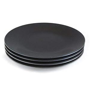 4枚セット リンドスタイメスト EBONYエボニー 黒いディナープレート28cm