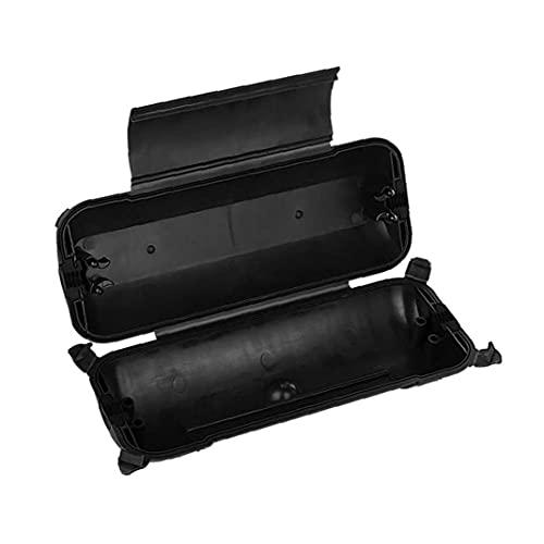 Conexión al aire libre a prueba de agua caja de cable de extensión eléctrica de la cubierta con el sello resistente a la intemperie para las conexiones de alimentación Conectores macho Negro, caja