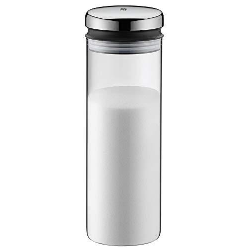 WMF Depot Vorratsdose Glas 1,5l, Höhe 28,5 cm, Vorratsglas mit Deckel, Kaffeebohnen Behälter, Müslidose, Frischhaltedose mit große Einfüllöffnung