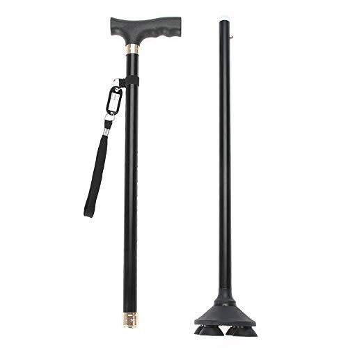 Stampelle in lega di alluminio old man, bastone da passeggio in alluminio regolabile per camminatori, antiscivolo stampelle per gli anziani e disabili