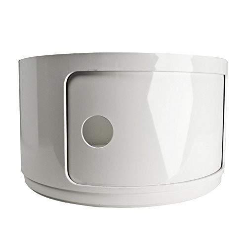 Kartell 495303 Baukastenelement Componibili rund undurchsichtig Durchmesser 42 x 23,5 cm ABS, weiß