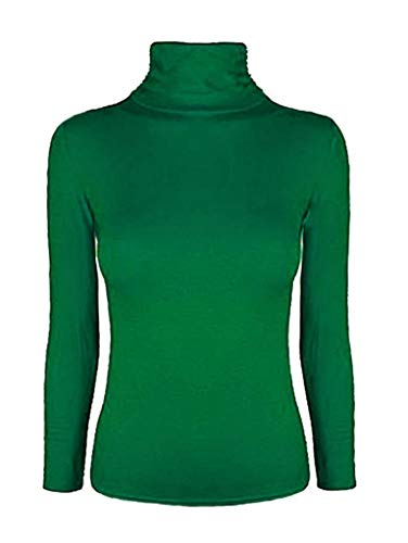 Nieuwe Dames Lange Mouw Turtle Polo Hals TOP Womens TOP Jumper