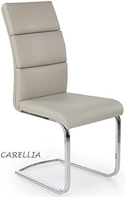 CARELLIA – Juego de 4 sillas Design – Taupe
