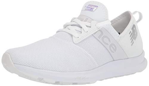 New Balance Women's FuelCore Nergize V1 Sneaker, White/Iridescent, 8.5