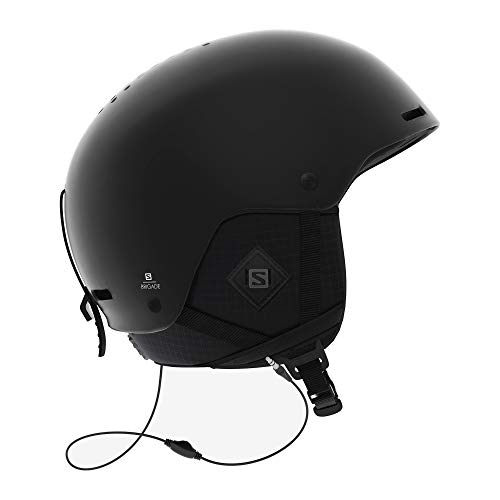 Salomon Brigade+ Audio Herren Ski- und Snowboardhelm mit Audiosystem, ABS-Schale, SMART-Technologie, Größe L, Kopfumfang 59-62 cm