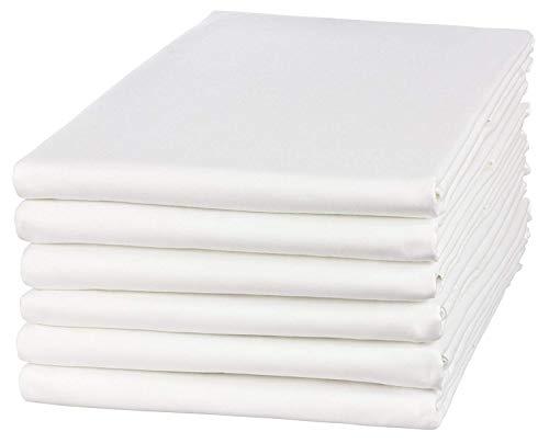 Clinotest Glatte Bettlaken in vielen verschiedenen Größen, weiß, in 100% Baumwolle, auch für Abdeckungen/Tischdecken/Fangolaken/Sommerlaken zum zudecken (100 x 200 cm)