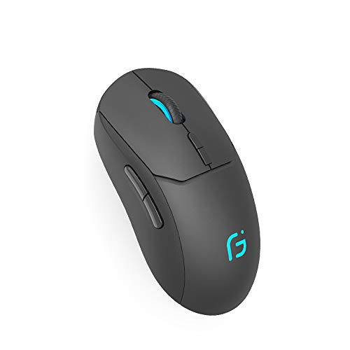 Wireless Bluetooth Mouse,2.4 GHz and Bluetooth Dual-module Wireless Gaming Mouse with USB Receiver for PC Laptop Notebook Windows Android Mac OS (Black)