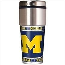 Great American NCAA Michigan Wolverines 16 oz Travel Tumbler with Metallic Wrap