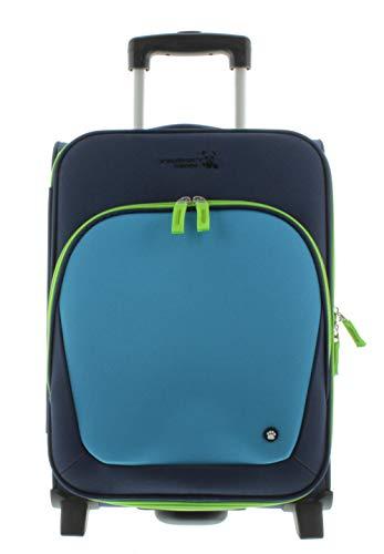 Franky Kindertrolley Kinderkoffer KT2 Blau-grün