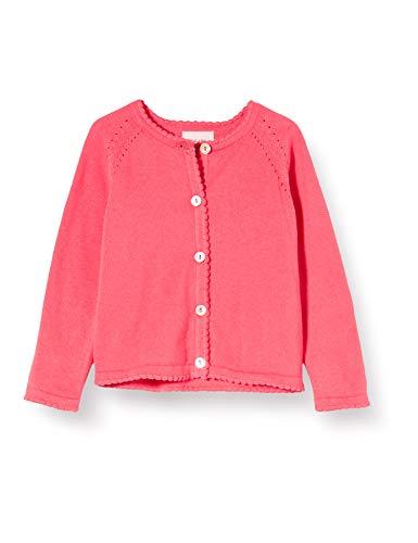 Noa Noa miniature Baby-Mädchen Basic Light Knit Strickjacke, Rosa (Paradise Pink 662), 68 (Herstellergröße: 6M)