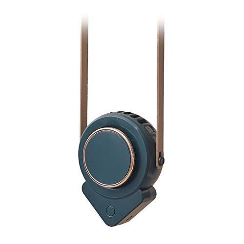 MagiDeal Collar portátil Ventilador Personal Mano Libre para Camping Senderismo Viajes Deportes - Verde
