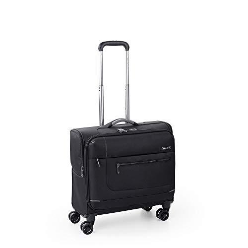 Roncato Pc Maleta Blanda Sidetrack - Cabina cm 46 x 45 x 22 Capacidad 38 L, Extensible, Ligero, Organización Interna, Cierre TSA, Aprobado para: Ryanair Easyjet, Garantìa 2 años