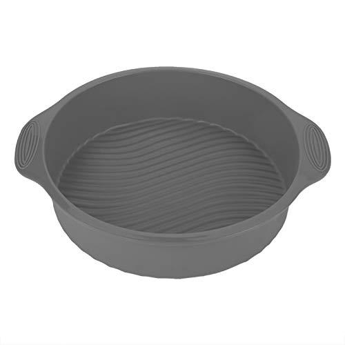 Moule à gâteau, Delaman 9 pouces moule à gâteau en Silicone forme ronde divers plat de cuisson pour four accessoires de cuisine accessoires pour la maison(gris)