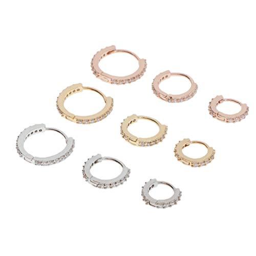 lahomia 9X Zirconia Stud Earrings, Ear Clips, Earrings