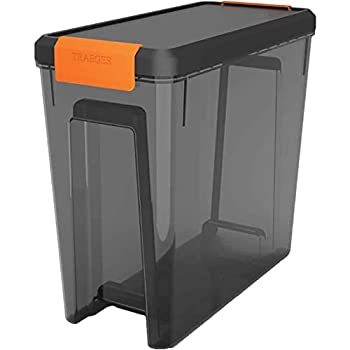 RCK Sales Plastic Smoker Pellet Storage Bin & Lid for 22 LBS by Traeger Grills BAC615