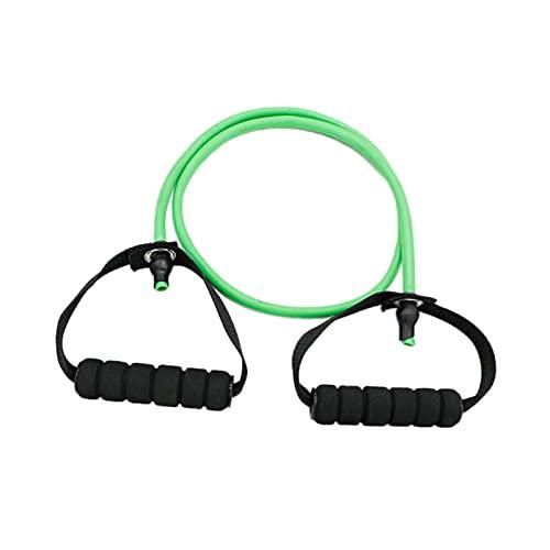 FGJH Fitness Yoga Pull Rope Resistencia Elástica Bandas Fitness Cuerda Cuerda de Goma Expansor Ejercicio Tubo Tubo Entrenamiento Gimnasio Entrenamiento Equipos 0429 (Color : Green)