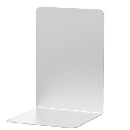 2x Buchstützen Faxland 12 x 12 x 17, 5 cm aus Aluminium, Alu Buchstütze, silber eloxiert, 12x12x17.5cm