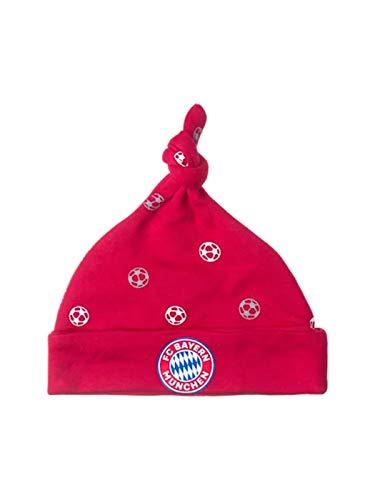 FC Bayern München Baby Mütze mit Zipfel und FCB Emblem