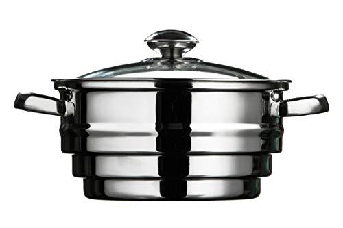 Premier Housewares - Accesorio para cocinar al vapor con tapa de cristal...