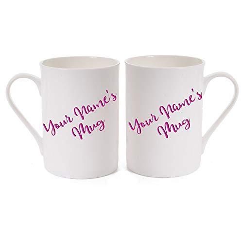 Yummy Grandmummy - Taza de Porcelana, diseño de Hueso Fino, Personalizable con el Nombre de la Persona en Color Rosa o Morado, Impreso en Ambos Lados