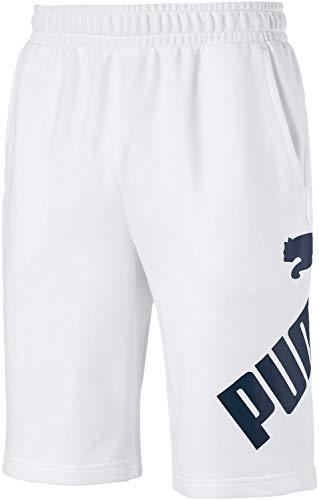 PUMA Men's Short, White-Dark Denim, XL