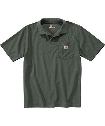 Carhartt Herren Contractor'S Work Pocket Polo Shirt, Moss, L
