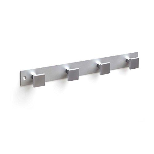 Regal Depot Aluminium hookrails mit 4Kleiderbügel, Chrom matt/matt ANOD, 5Stück