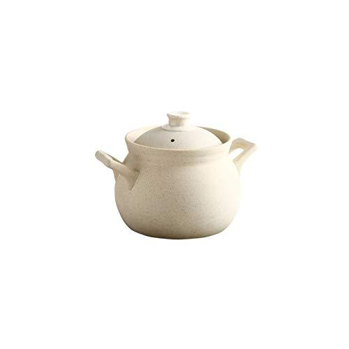 hongbanlemp ollas Rectas Cocina Cocina Pot Premium Ceramic Sty Pool con Tapa Stef Stew Pot Se Puede Usar para cocinar Porridge Soup Guisado y Verduras 3L 4L Olla Sopa (Size : 3L)