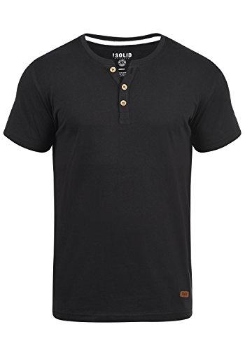 !Solid Volker Herren T-Shirt Kurzarm Shirt Mit Grandad-Ausschnitt, Größe:XXL, Farbe:Black (9000)