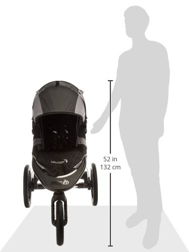 Baby Jogger Summit X3 Jogging Stroller - 2016 | Air-Filled Rubber Tires | All-Wheel Suspension | Quick Fold Jogging Stroller, Black/Gray
