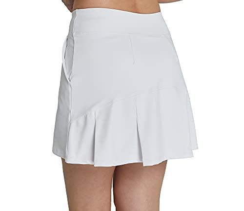 Westkun Falda Plisada De Tenis con CordóN EláStico Mujer Skort De Golf(Blanco,S)
