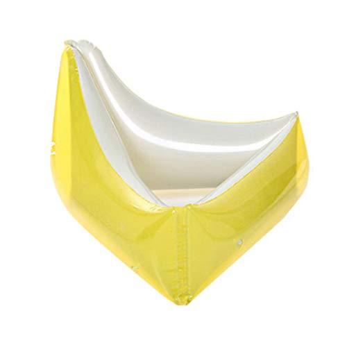 DIMPLEYA Dreieck-Schwimmen-Ring-erwachsenes Wasser-schwimmende Reihe-aufblasbare Sitz-Verankerung See-Verdickungssee-Feiertags-Freizeitschwimmer,Yellow