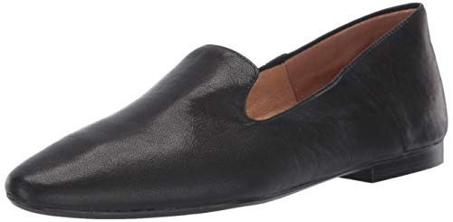 Naturalizer Womens Lorna Ballet Flat, Black Leather, 7.5 M US