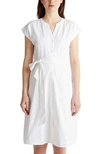 ESPRIT Damen 040EE1E325 Kleid, 100/WHITE, 38
