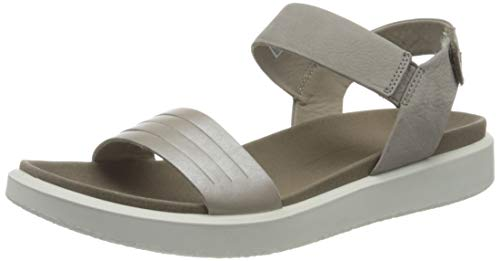 ECCO Damen Flowt Sneaker, Moon Rock Silver Warm Grey Metallic, 38 EU
