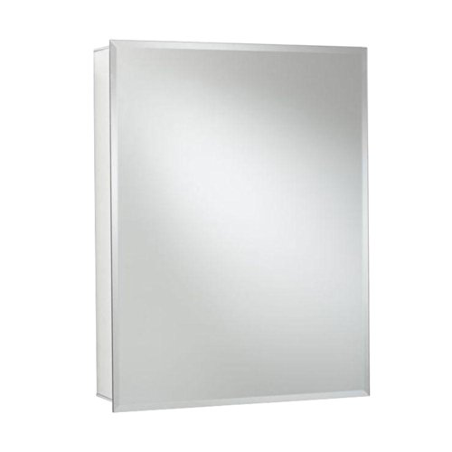 Croydex Haven 30-Inch x 24-Inch Recessed or Surface Mount Medicine Cabinet with Hang 'N' Lock Fitting System, Aluminum