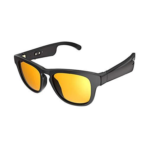 Gafas de Sol de Audio de Seguridad Bluetooth 5.0, Modo Dual EQ Mode Llamada telefónica inalámbrica Tecnología de Audio direccional sobre Ear Bluetooth Gafas para Hombres Mujeres 2021 (Color : C)