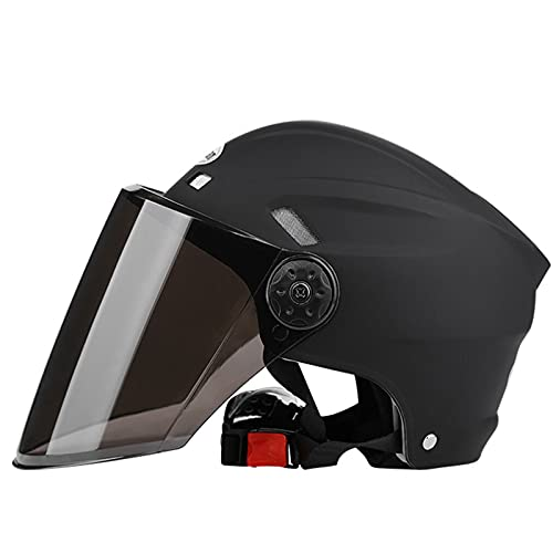 Casco de Motocicleta con Visera,Casco Patinete Eléctrico, Bicicleta Urbana,Patines y Skateboard,Adultos Unisex...