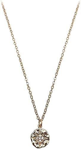 ZPPYMXGZ Co.,ltd Collar de Marca de Moda Cuadrado Collar con Cadena de clavícula