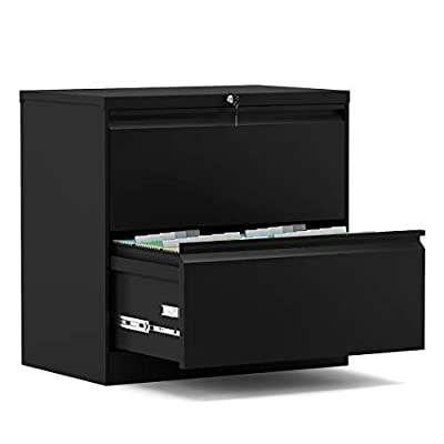3 Drawer File Cabinet with Lock, Stainless Steel Full Metal Lateral File Cabinet for Home and Office