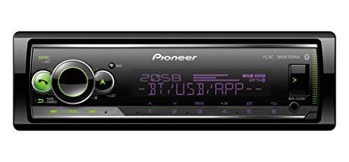 Pioneer MVH-S520BT, 1DIN Autoradio mit RDS, RGB-Beleuchtung, halbe Einbautiefe, deutsche Menüführung, Bluetooth, USB, iPod/iPhone-Direktsteuerung, Freisprecheinrichtung, Smart Sync