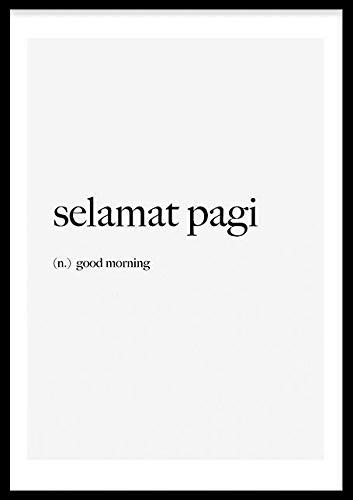 Wallified Selamat pagi Tekst - Póster, multicolor, 50 x 70 cm
