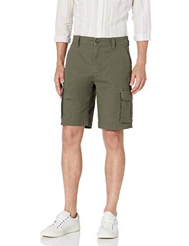 Amazon Essentials Men's Lightweight Ripstop Stretch Cargo Short, Olive, 34